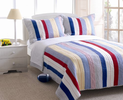 Lowest Price! Greenland Home Prairie Stripe Quilt Set, Twin