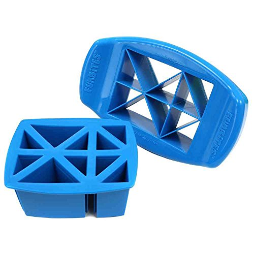 FunBites Food Cutter, Blue Triangles - 1