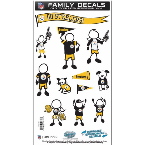 NFL Pittsburgh Steelers Medium Family Decal Set (Steelers Family Car Decals compare prices)