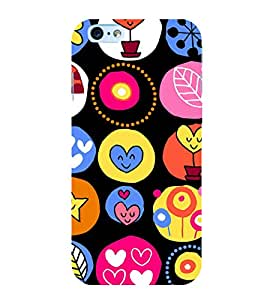 Cute Hearts Wallpaper 3D Hard Polycarbonate Designer Back Case Cover for Apple iPhone 6