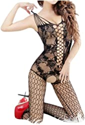 Sexy Women Full Body Open Crotch FishNet Lingerie Tights Pantyhose Stockings