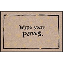 High Cotton Wipe Your Paws Doormat Black