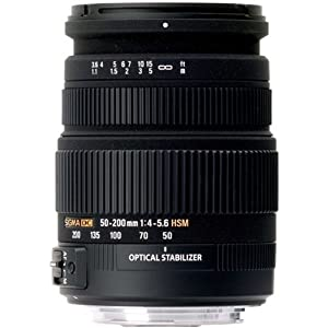 Sigma 50-200mm f/4.0-5.6 DC IF SLD Optical Stabilized (OS) Lens for Nikon Digital SLR Cameras