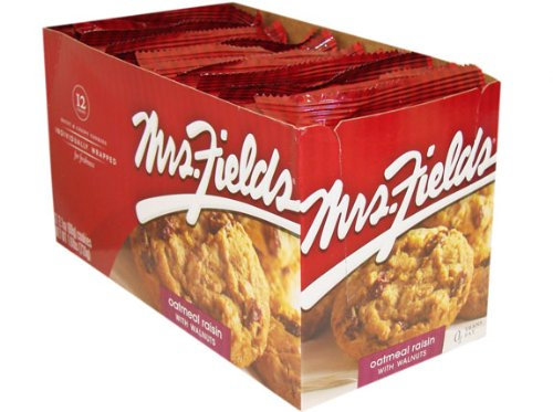 Mrs. Fields Oatmeal Raisin with Walnuts Cookies, 12 count