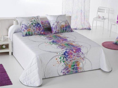 Colcha bouti Splatter - cama 105 cm - Malva