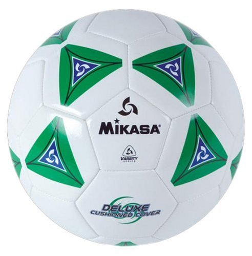 Mikasa Serious Soccer Ball (Green/White, Size 5)