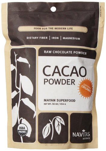 Navitas Naturals Organic Raw Cacao Powder,  1 Pound  Pouches (Pack of 2)