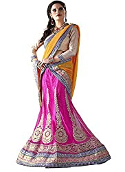 Khushi Trendz Women's Net Semi-Stitched Lehenga Choli Set_KT9191_Multicolored_Freesize