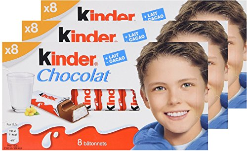 Kinder Chocolate 100g/3.52oz (Pack of 3)