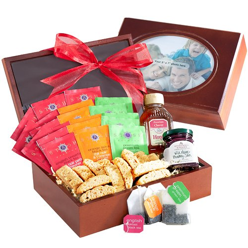 Tea Time Teas and Treats in Wooden Box  Photo