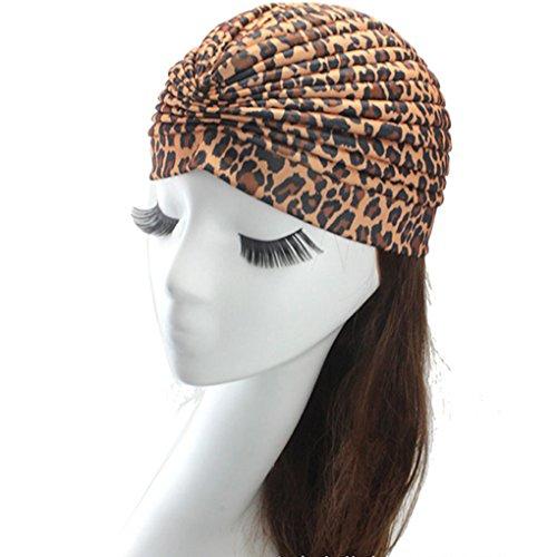 Women's Fashion Turban Indian Style Head Wrap Cap Hat Hair Cover Headband