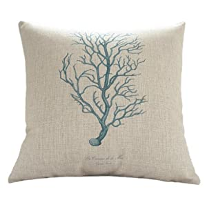 Amazon.com - MagicPieces Cotton and Flax Ocean Park Theme Decorative Pillow Cover Case 18