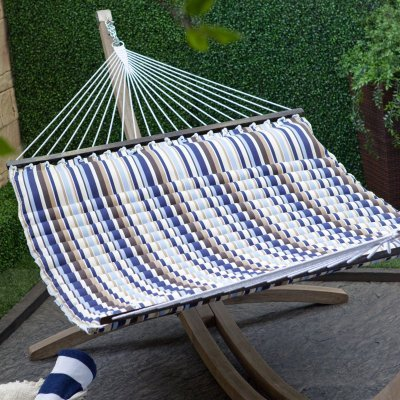 Island Bay 13 ft. Seaside Pillow Top Hammock MaterialType - Polyester