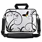 White&Butterfly 9.7 10 10.2 inch Laptop Netbook Tablet Shoulder Case Carrying Sleeve bag For Apple iPad/Asus EeePC/Acer Aspire one/Dell inspiron mini/Samsung N145/Lenovo S205 S10/HP Touchpad Mini 210