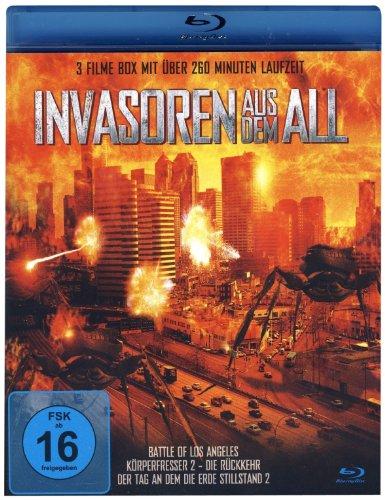 INVASOREN AUS DEM ALL (3 Filme Box Blu-ray) Battle of Los Angeles - Körperfresser 2 Die Rückkehr - Der Tag an dem die Erde stillstand 2