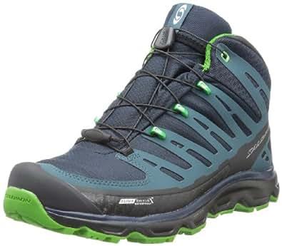 Salomon Men's Synapse Mid CS Hiking Boots,Deep Blue/Dark Slate Grey/Lawn Green,9 M US