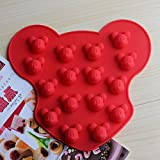 DreamHank Silicone Candy Chocolate Ice Cube Making Molds Cute Shapes for Making Homemade Chocolate, Gummy, Ice, Crayons, Jelly-2 Packs (Mickey Mouse)