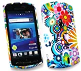 FLASH SUPERSTORE SONY ERICSSON XPERIA NEO ( MT-15i ) GEL SKIN COVER CIRCLES AND FLOWERS