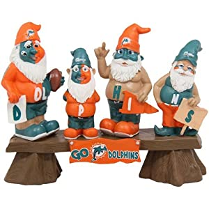 NFL Miami Dolphins Team Fan Gnome Bench by Forever Collectibles