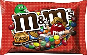 M&M's Peanut Butter Chocolate Candy, 18.4 Ounce Bag (Pack of 4)