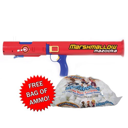 Marshmallow Nerf Bazooka Shooter with Free Ammo