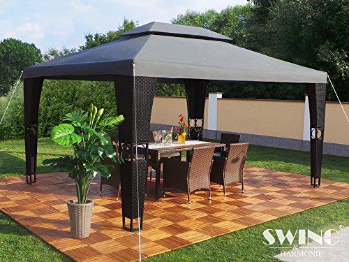 Luxus-Rattan-Pavillon-SchwarzAnthrazit