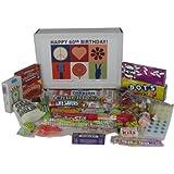60th Birthday Gift Box Peace & Love Retro Candy- Jr.