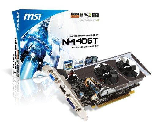 MSI N440GT-MD1GD3/LP nVidia GeForce GT440 1GB DDR3 VGA/DVI/HDMI Low Profile PCI-Express Video Card