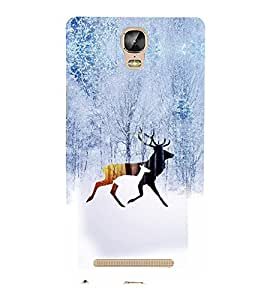 PRINTVISA Abstract Swag Deer Case Cover for Gionee Marathon M5 Plus