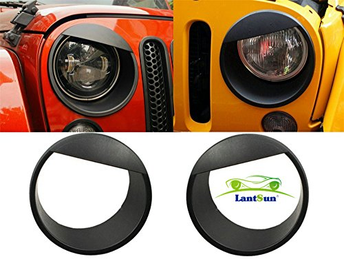 lantsun-black-bezels-front-light-headlight-angry-bird-style-trim-cover-abs-for-jeep-wrangler-rubicon