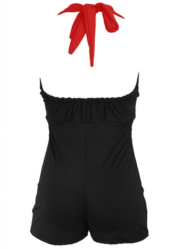 PinupClothingOnline Women's Bow Front Vintage Pin up Rockabilly Swimsuit 2