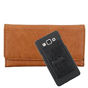 DooDa PU Leather Wallet Flip Case Cover With Card & ID Slots For XOLO Q500s IPS - Back Cover Not Included Peel And Paste