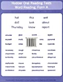 Denis Vincent Hodder Oral Reading Tests: Test Cards (Set of 3)