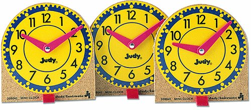 Judy Instructo Mini Judy Clocks Flash Card