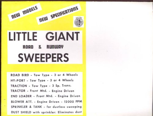Little Giant Road & Runway Sweepers Sales Folder Ca 1959