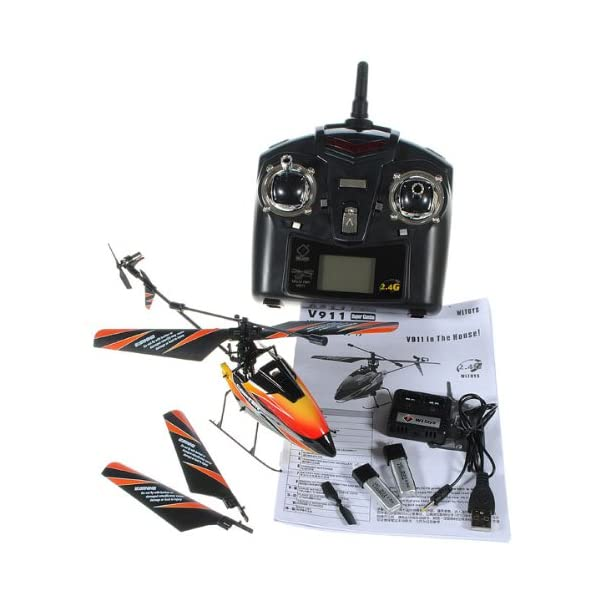 New-WL-V911-4-CH-Single-Rotor-Helicopter-Version-2-New-Improved-Black