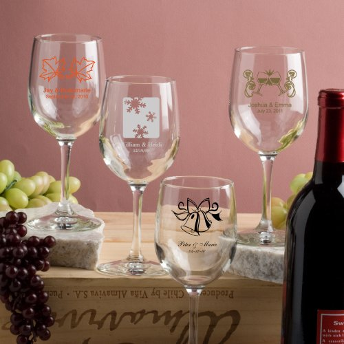Printed Wedding Wine Glasses : PERSONALIZED WINE GLASSES WEDDING FAVORSPERSONALIZED WINE GLASSES ...