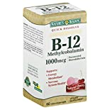 Natures Bounty B-12 Methylcobalamin, 1000 mcg, Quick Dissolve, Natural Cherry Flavor, Microlozenges, 60 microlozenges