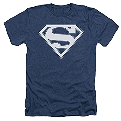 Superman: Navy & White Shield Heather T-Shirt