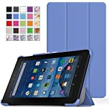 Fire 7 Case - MoKo Ultra Lightweight Slim-shell Stand Cover for Amazon Fire Tablet (7 inch Display - 5th Generation, 2015 Release Only), BLUE