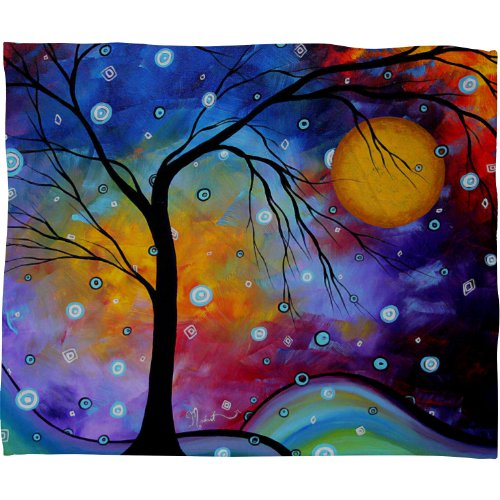 Deny Designs Madart Winter Sparkle Fleece Throw Blanket, 60-Inch By 50-Inch back-938983