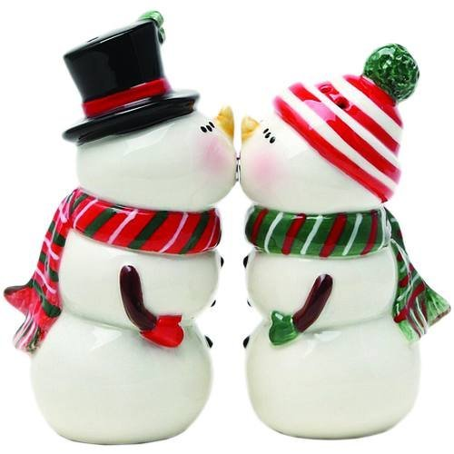 Pacific Giftware Pacific giftware, Snowman Couple Magnetic Salt And Pepper Shaker Set Christmas Winter