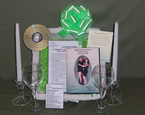Learn to Dance Anniversary Gift Basket - Instructional Dance DVD & More By Slow Dancers