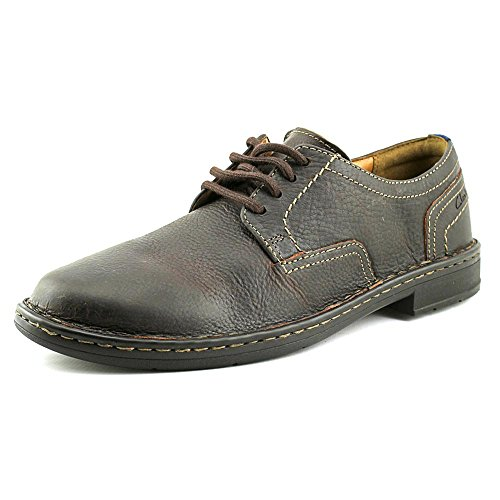 clarks-kyros-plain-mens-brown-leather-casual-dress-lace-up-oxfords-shoes-8