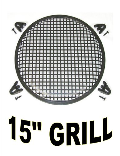 15 INCH WAFFLE SPEAKER SUB WOOFER METAL GRILLS WITH CLIPS AND SCREWS DJ-CAR-HOME (15 Subwoofer Grill compare prices)