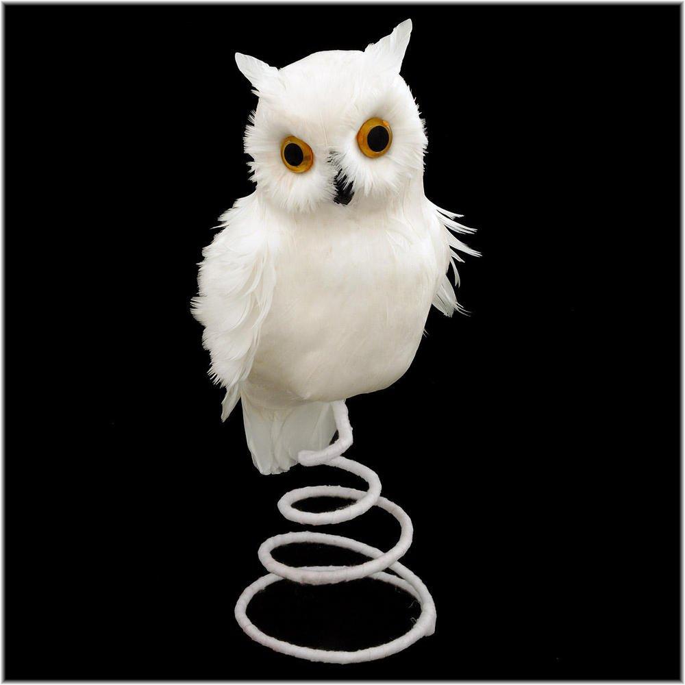 Snowy Owl Christmas Tree Topper