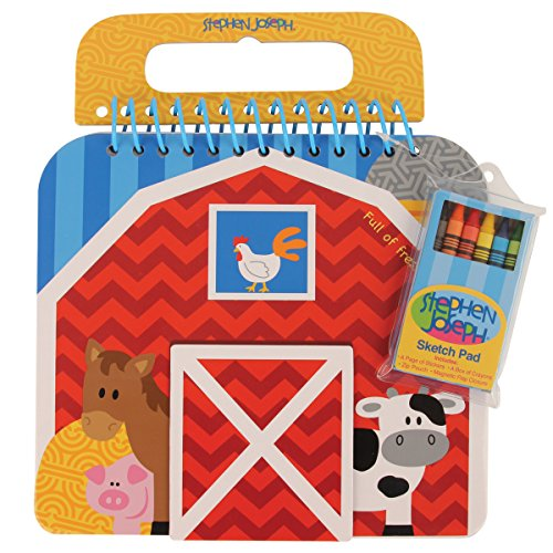 Stephen Joseph Shaped Sketch Pad-Farm