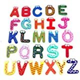 Umiwe(TM) Colorful Funky Fun Magnetic Alphabet/ Wooden Fridge Magnets Kids Educational toys With Umiwe Accessory Peeler