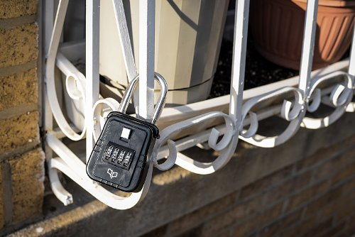 A Key Lockbox Alongside Personal Emergency Response Systems