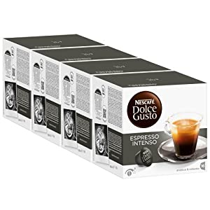 Purchase Nescafé Dolce Gusto Espresso Intenso, Pack of 4, 4 x 16 Capsules from Nestlé